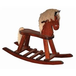 Heirloom Oak Child's Rocking Horse