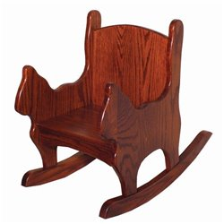 Child's Oak Cat Shaped Chair/Rocker