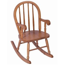 Heirloom Child's Oak Spindle Back Rocker