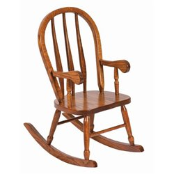 Heirloom Child's Oak Bent Feather Rocker