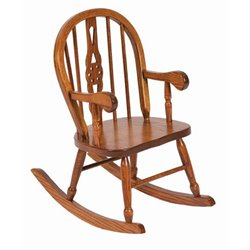 Heirloom Child's Oak Windsor Rocker