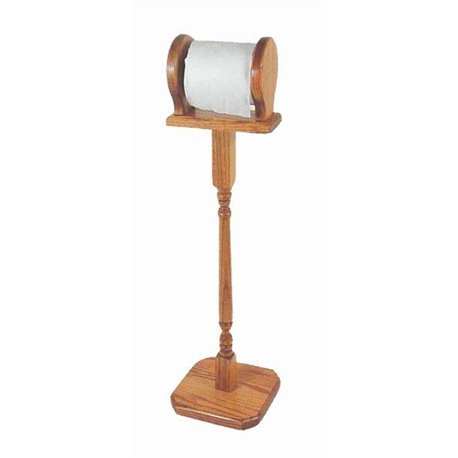 Oak Free Standing Toilet Paper Stand/Holder
