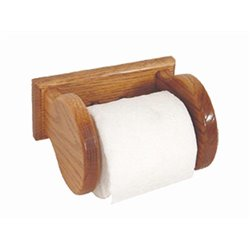 Oak Wall Mounted Toilet Paper Holder