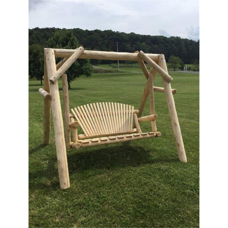 White Cedar Log Swing Amp Frame