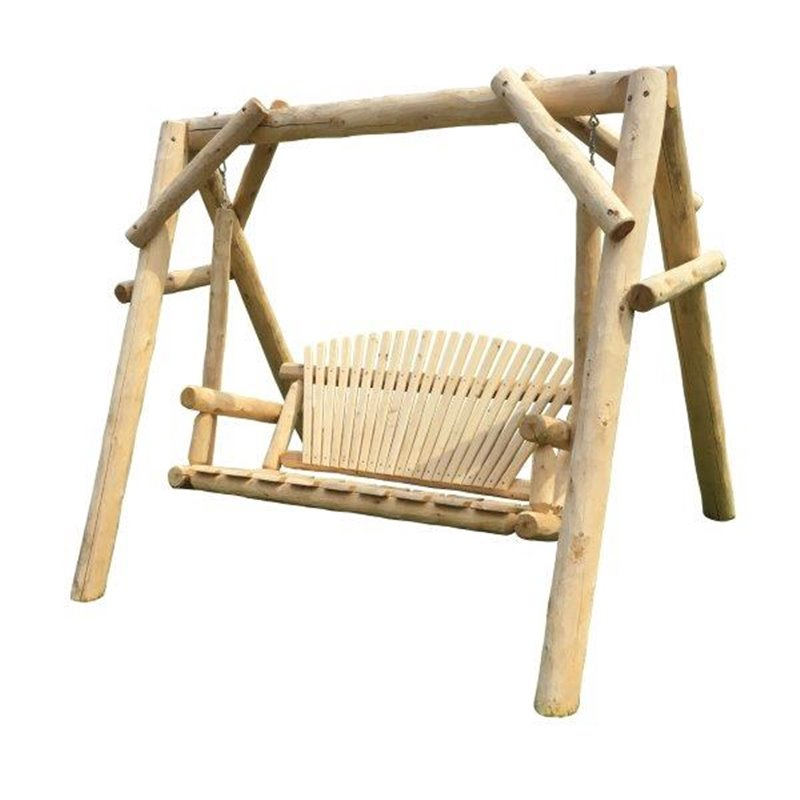 White Cedar Log Swing & Frame