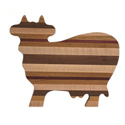 Exotic Woods Cow Shaped Cutting Board