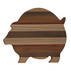 Exotic Woods Pig Shaped Cutting Board