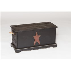 Rustic Primitive Pine Small Storage Chest with Rustic Star