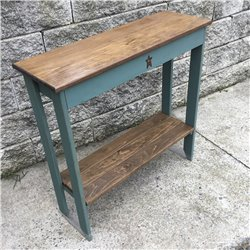 Sea Foam Green with Modern Walnut Stain