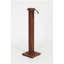 Burgundy Painted Lantern Post