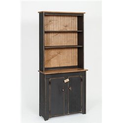 Primitive Pine Hutch and Cabinet