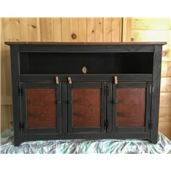 "Primitive 50"" TV Stand with Decorative Tin - 4 Styles"