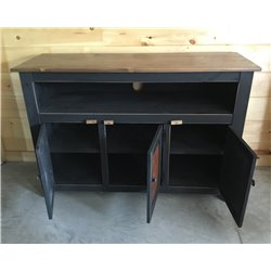 """Primitive 50"""" TV Stand with Decorative Tin - 4 Styles"""
