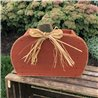 Primitive Wooden Pumpkin Shaped Planter Box for Mums
