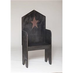 Primitive Rustic Cottage Bench With Country Star