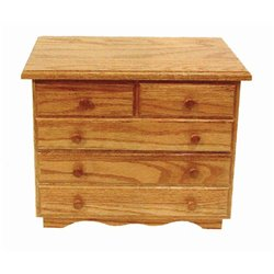 Oak 5 Drawer Jewelry Chest