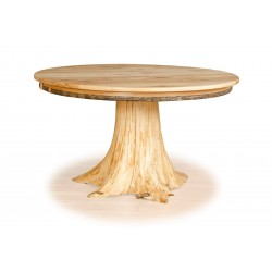 Custom Hickory & White Cedar Stump Dining Table
