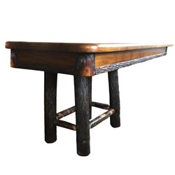 Rustic Hickory 4 Leg Trestle Style Dining Table - Choose 60 or 72 inches