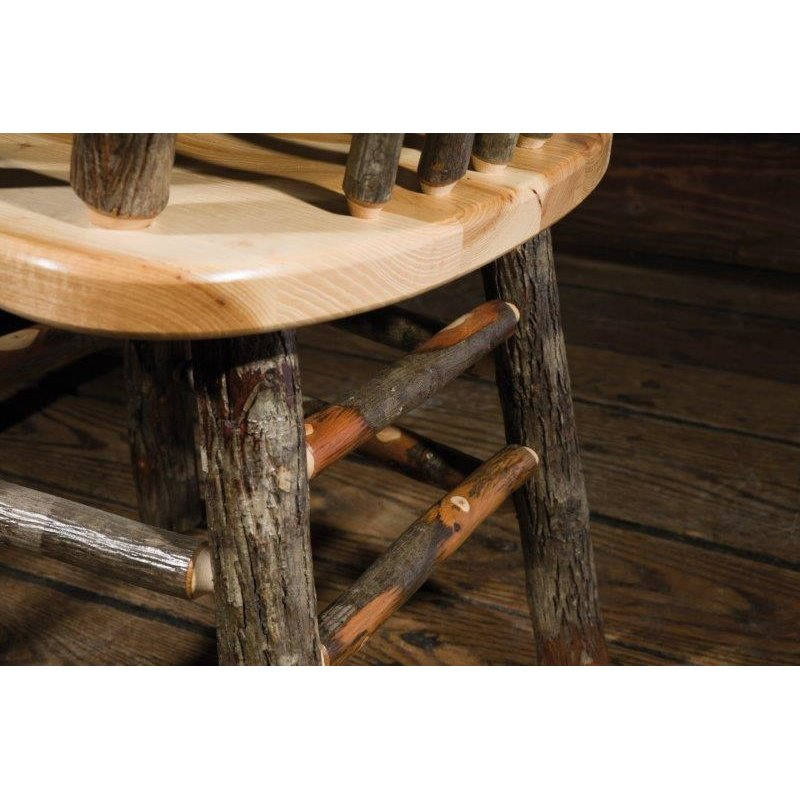 Rustic Hickory Trestle Style 72 Quot Dining Table With 6 Chairs