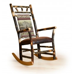 Rocking chair with Bear Mountain Fabric