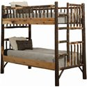 Rustic Hickory Log Bunk Bed Set - Twin Over Twin to Queen over Queen