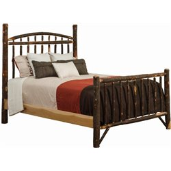Rustic Hickory Log Bed - Dakota Style - Twin / Full / Queen / King