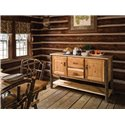 Rustic Hickory 2 Door 2 Drawer Buffet Server