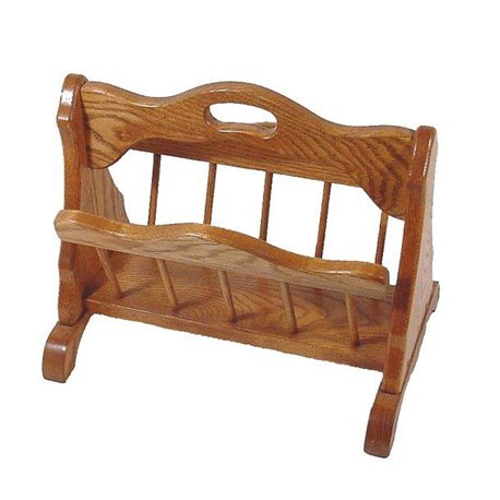 Oak Storage Rack with Handle