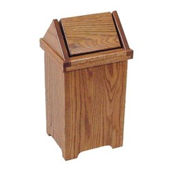 Small Oak Flip Top Trash/Recycling Bin