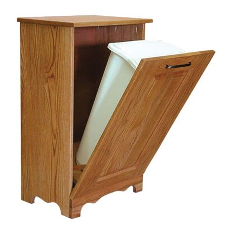 Oak 13 Gallon Tilt Out Trash/Recycling Bin