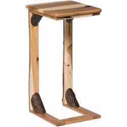 Hickory over the Arm Sofa Table/Caddy