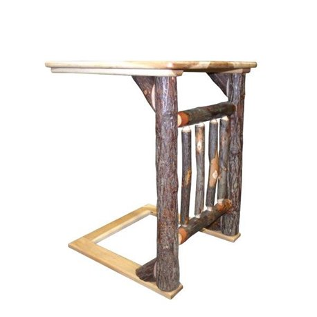 Fine Hickory Over The Arm Sofa Table Caddy With Spindles Alphanode Cool Chair Designs And Ideas Alphanodeonline