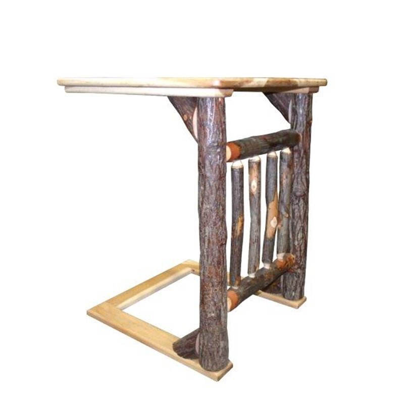 Hickory Over The Arm Sofa Table Caddy With Spindles