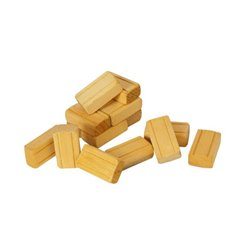 Wood Hay Bales - Set of 16 - YELLOW