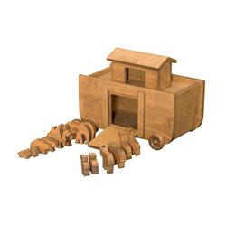 Wooden Toy Noah's Ark with Animals