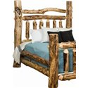 Rustic Aspen Log Grand Headboard - Available in King or Queen