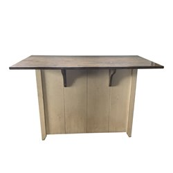 Large Primitive Kitchen Island in Counter Height