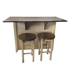 With 2 Stools