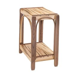 Wormy Maple & Walnut 2 Tier Side Table