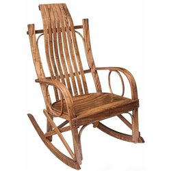 Rough Sawn Bent Arm Rocker