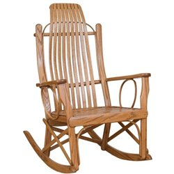 Bent Oak Arm Rocker in Provincial Stain