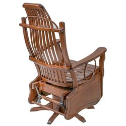 Oak Flat Arm Swivel Glider in Michael's Cherry Stain