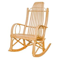Oak Bent Arm Rocker in Clear Coat
