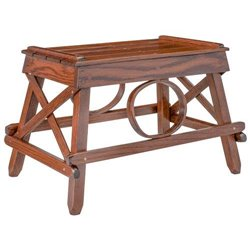 Oak Stationary Foot Stool/Ottoman