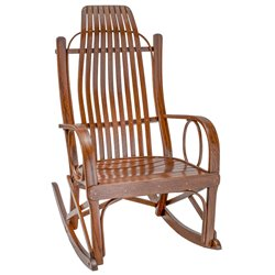 Oak Bent Arm Rocker in Michael's Cherry Stain