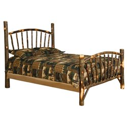 Rustic Hickory Log Bed - Sunburst - Twin / Full / Queen / King