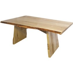 Wormy Maple Live Edge Dining Table with Lyndon Base - Various Sizes