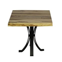 Wormy Maple Live Edge End Table with Eclipse Base