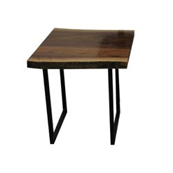 Black Walnut Live Edge End Table with Rochester Base