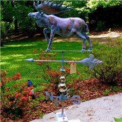 X-Large 3 Dimensional MOOSE Weathervane Copper Patina Finish